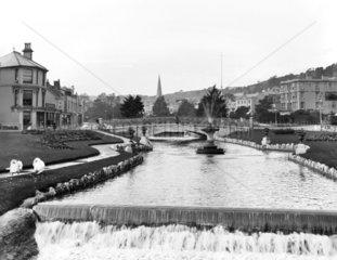 The Dawlish Water  flowing through Dawlish  Devon  c 1905.
