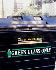 Green glass recycling bin  1999.
