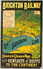 'The Sunshine Line'  LBSCR poster  1914.