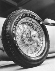 Front wheel of a 1911 Auto-Union racing car  c 1934-1935.