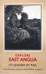 'Explore East Anglia'  LNER poster  1923-1947.
