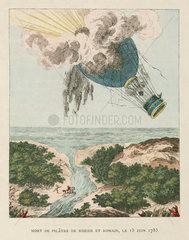 Death of Pilatre de Rozier  15 June 1785.