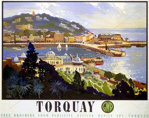 'Torquay'  GWR poster  1947.