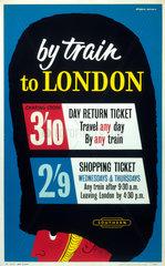 'By Train to London'  1960. British Railways poster  1960.