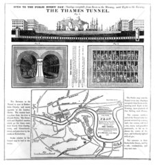 Poster advertising the Thames Tunnel  London  mid-late 19th century.