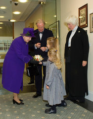 Her Majesty the Queen at the Smith Centre  Science Museum  London  2006.