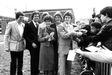 The Osmonds in Britain  April 1980.