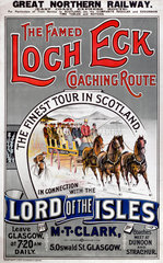 'The Famed Loch Eck Coaching Route'  GNR poster  1900-1923.