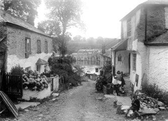 Village of Bodinnick  Cornwall  1922.
