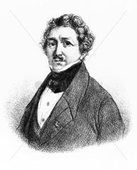 Louis Jacques Mande Daguerre  French photography pioneer  c 1830.