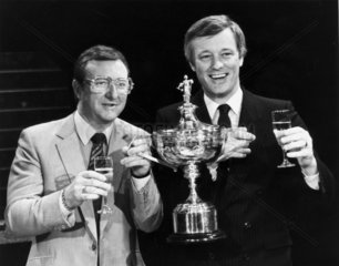 Dennis Taylor and Barry Hearne  May 1985.