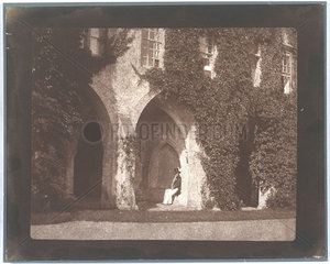 The Reverend Calvert Jones in the cloisters of Lacock Abbey  c 1843.
