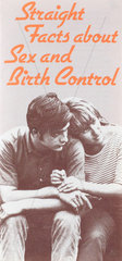 'Straight facts About Sex and Birth Control'  poster  c 1980s.