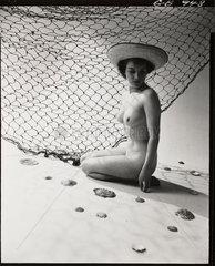 Nude study: woman and fishing net  1960s