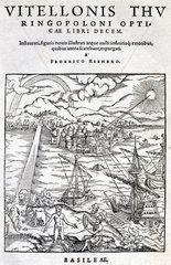 Frontispiece of 'Opticae Thesaurus'  1572.