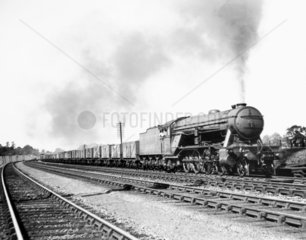 Large 2-8-2 steam locomotive  one of two en