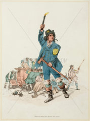 'A Fireman of the Sun Fire Office'  1805.