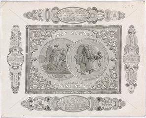 Trade card of John Mottram  engraver  c 1851.