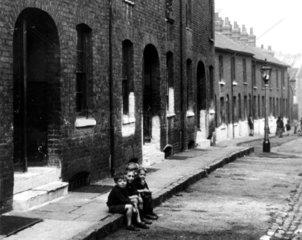 Slum property  London  c 1930s. 'Coaltman S