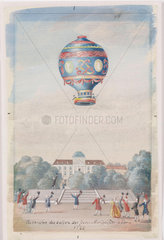 'Ascension of the Montgolfier Brothers' Balloon at Paris'  21 November 1783.
