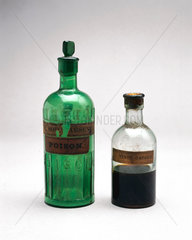 Bottles of arsenic and tincture of capsicum  1921.