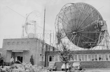 Jodrell Bank radio telescope  6 Aug 1961. '