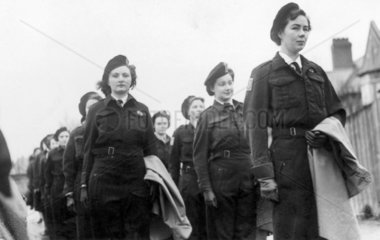 Women Home Guard at Colwyn Bay  Wales  World War Two  December 1944.