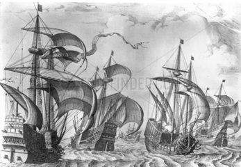 Spanish carracks and galleons  1561.
