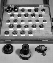 Selection of 26 eyepieces made by Sir William Herschel  1780-1800.