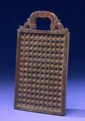 Wooden counting board  European  1701-1800.