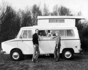 Motor caravan  February 1975.
