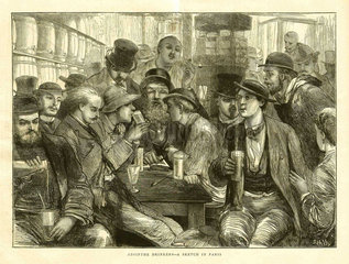 Absinthe drinkers  Paris  1872.