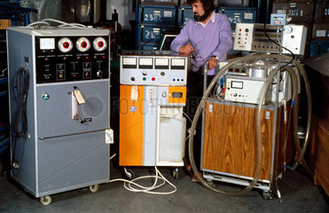 Dialysis equipment with curator  Science Museum Hayes Store  Middlesex.