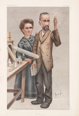 Pierre and Marie Curie  French physicists  1904.