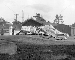 Aeroplane crash  Farnborough  Hampshire  5