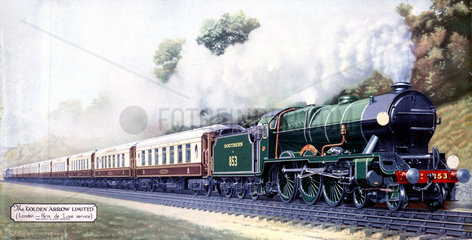 The 'Golden Arrow Limited'  London-Paris De Luxe Service  c 1900s.