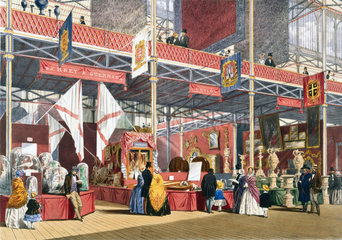 Jersey and Guernsey  Malta and Ceylon stand at the Great Exhibition  1851.