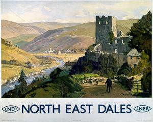 'North East Dales'  LNER poster  1930.