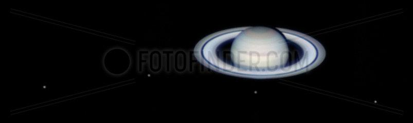 Saturn's moons  2004.