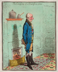 'The Comforts of a Rumford Stove'  1800.