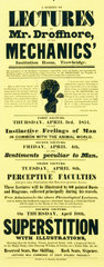 Advertisement for a series of lectures  1851.