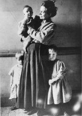 Tenement family  New York City  c 1910.
