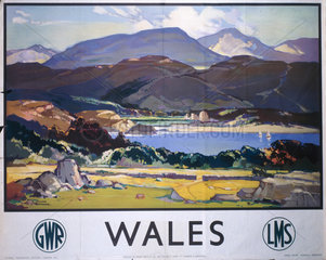 'Wales'  GWR/LMS poster  c 1930s.