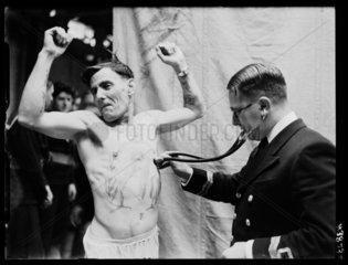 Medical examination  Portsmouth  1939.