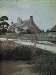 'Cottages at Flowers Green  Herstmonceux'  c 1910-1915.