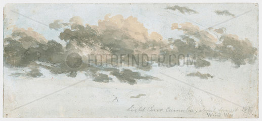Cirrocumulus  cloud study  c 1803-1811.