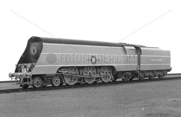 'Southern Railway Locomotive No 21C3  Merchant Navy Class  'Royal Mail'.