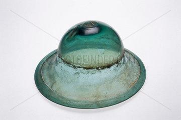 Bowl-shaped window pane  c 1920.