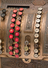 Mechanical cash register  c 1910.