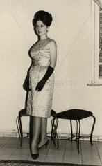 Woman in evening dress  1950-1960s.